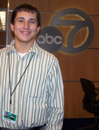 Peter Martinez intern at KABC-TV